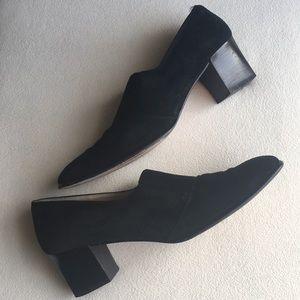 Salvatore Ferragamo black suede leather shoes 8.5